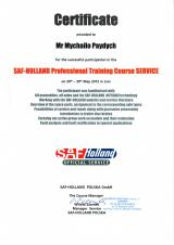 Сертификат SAF-Holland Professional Training Course Service - Пайдич Михаил